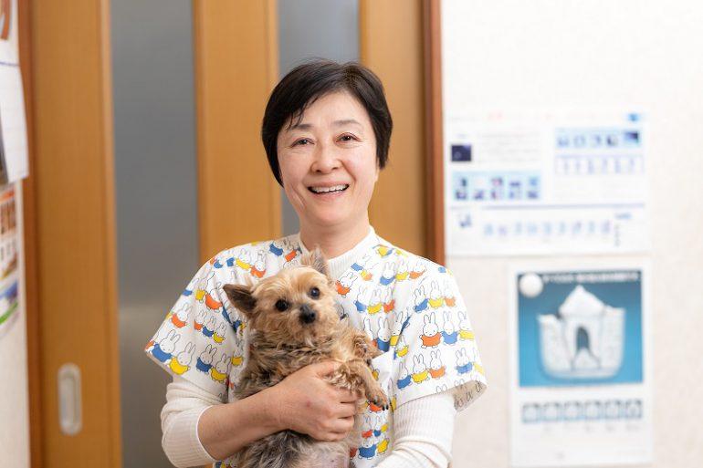 院長先生と犬
